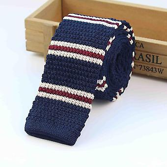 Men''s Knitted Striped Skinny Narrow Neck TiesMens Knitted Striped Skinny Narrow Neck Ties. Specification:   Gender: MEN Gender: WOMEN Style: Fashion Ties Type: Neck Tie Length:145 CM / 57 Inch(approx) Width: 5.5 CM / 2.16?xa0inch?xa0(MAX) Style:?xa0leisure Material:?xa0Imitated Silk+Cotton Model Number: 145cm*5.5cm Pattern Type: Striped     Package Includes:   1*Tie+1*Opp Bag   Notice: Do Not Bleach