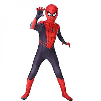 Polyester Material Child Superhero Spider-man Costume Tights Role Playing Square