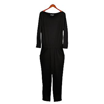 Brittany Humble Jumpsuits Off-Shoulder One-Piece Black 720036