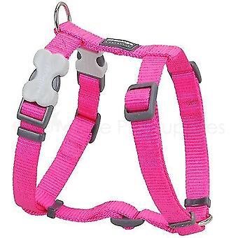 Pet collars harnesses dog harness plain hot pink - large