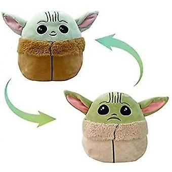 Reversible Stuffed Vivid Expression Plush Toy - Blue To Green