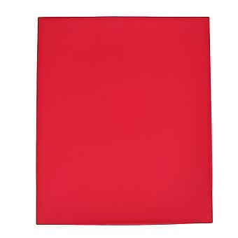 Scandinavian style multifunctional kitchen non stick silicone rollable baking mat(Red)