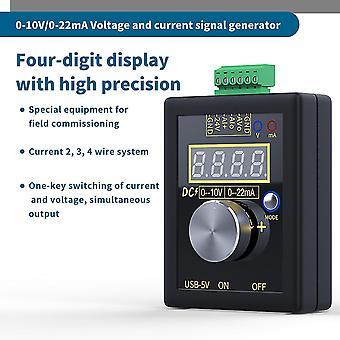 Analog 0-5v 0-10v 4-20ma signalgenerator med genopladelig batterilomme justerbar spænding