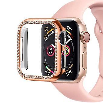 Apple Watch Series 4 44mm PC Diamond Smart Watch védőtokhoz (Rose Gold)
