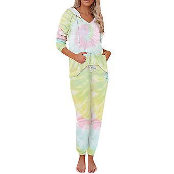 Mile Women's Casual Pajamas Two-piece Suit (top + Pants)