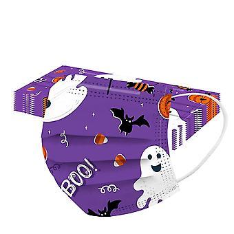 50 sztuk Jednorazowe maski Pyłoszczelna maska na Halloween