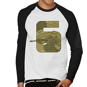 Seal Team zes Call Of Duty mannen honkbal lange mouwen T-Shirt