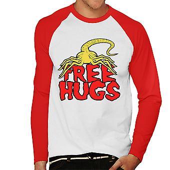 Free Hugs Facehugger Alien miesten Baseball pitkähihainen t-paita