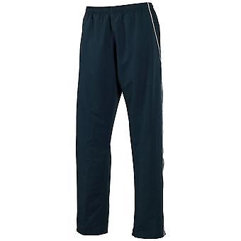 Tombo Teamsport Mens Open Hem Lined Micro Fleece Training Pants / Jogging Bottoms (Showerproof/windproof)
