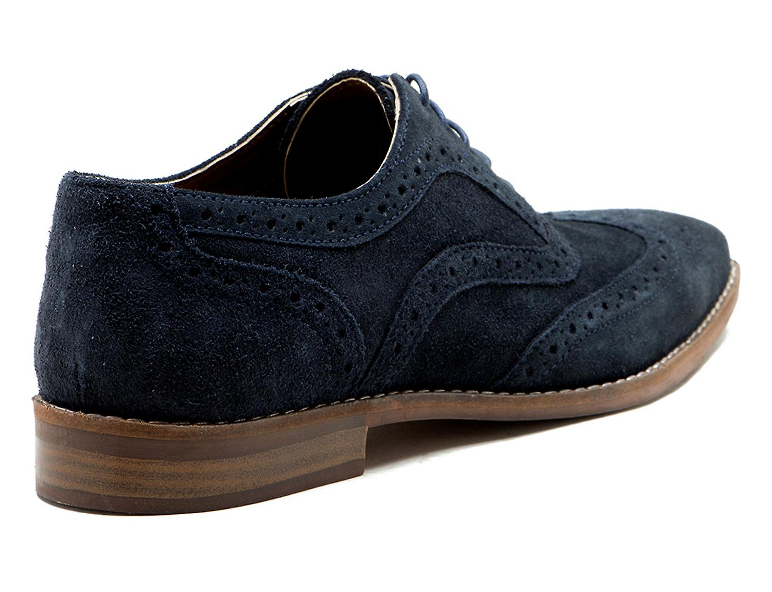 Red Tape Thorpe Navy Mens Suede Brogue Formal Shoes