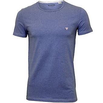 מניח חולצת הצוות-צוואר, Marl כחול