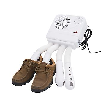 HOMCOM Shoe Boot Dryer Electric Hot Air Warmer Heater Disinfectant Wall Mounted Portable White