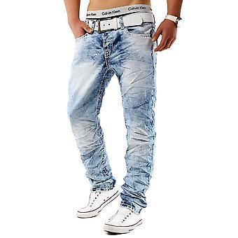 Men Jeans ACID ANGEL Like denim clubwear Slim Fit wrinkle thick seam