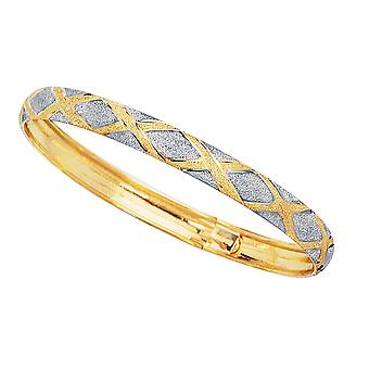 10 k amarelo e branco Flex polido alta ouro pulseira, 7
