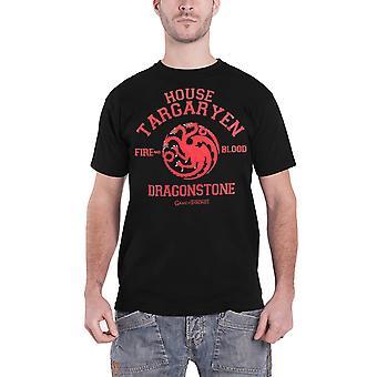 Spiel der Throne T Shirt Drachenstein Targaryen Emblem neue offizielle Herren schwarz
