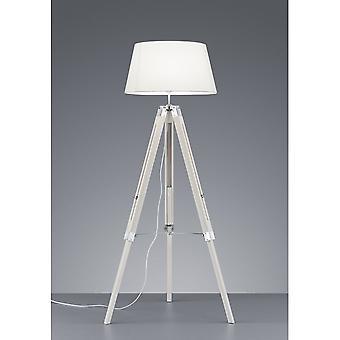 Trio tripé moderno branco Natural madeira assoalho da lâmpada de iluminação