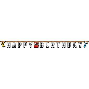 Mejoras para el hogar de DIY fans carta Garland 1 pieza niños cumpleaños tema partido partido cumpleaños