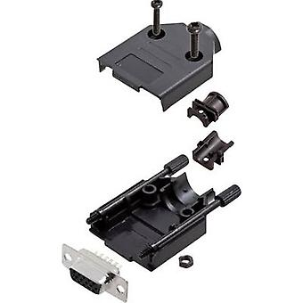 encitech DTPK-P-09-HDS15-K 6355-0053-11 D-SUB opvangbakje set 180 ° aantal pinnen: 15 soldeer emmer 1 set
