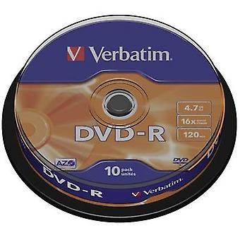 Ordrett 43523 tom DVD-R 4,7 GB 10 PC (er) spindel