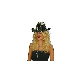 Union Jack dragen Safari Cowboy/groene camouflage Hat