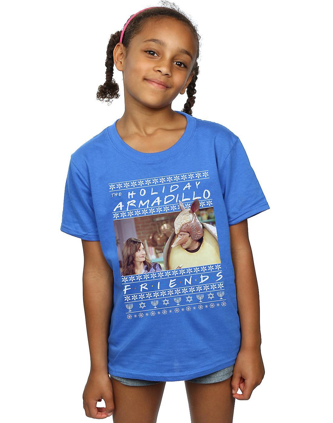 Friends Girls Fair Isle Holiday Armadillo T-Shirt