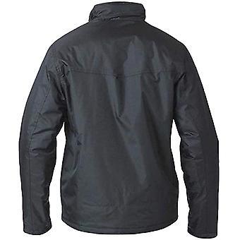 Hertug D555 Mens Rayford store & høye Casual zippet lys polstret jakke pels - svart