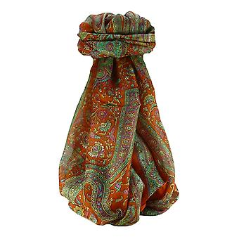 Mulberry jedwabiu tradycyjny długi szalik kar terakoty przez Pashmina & Silk