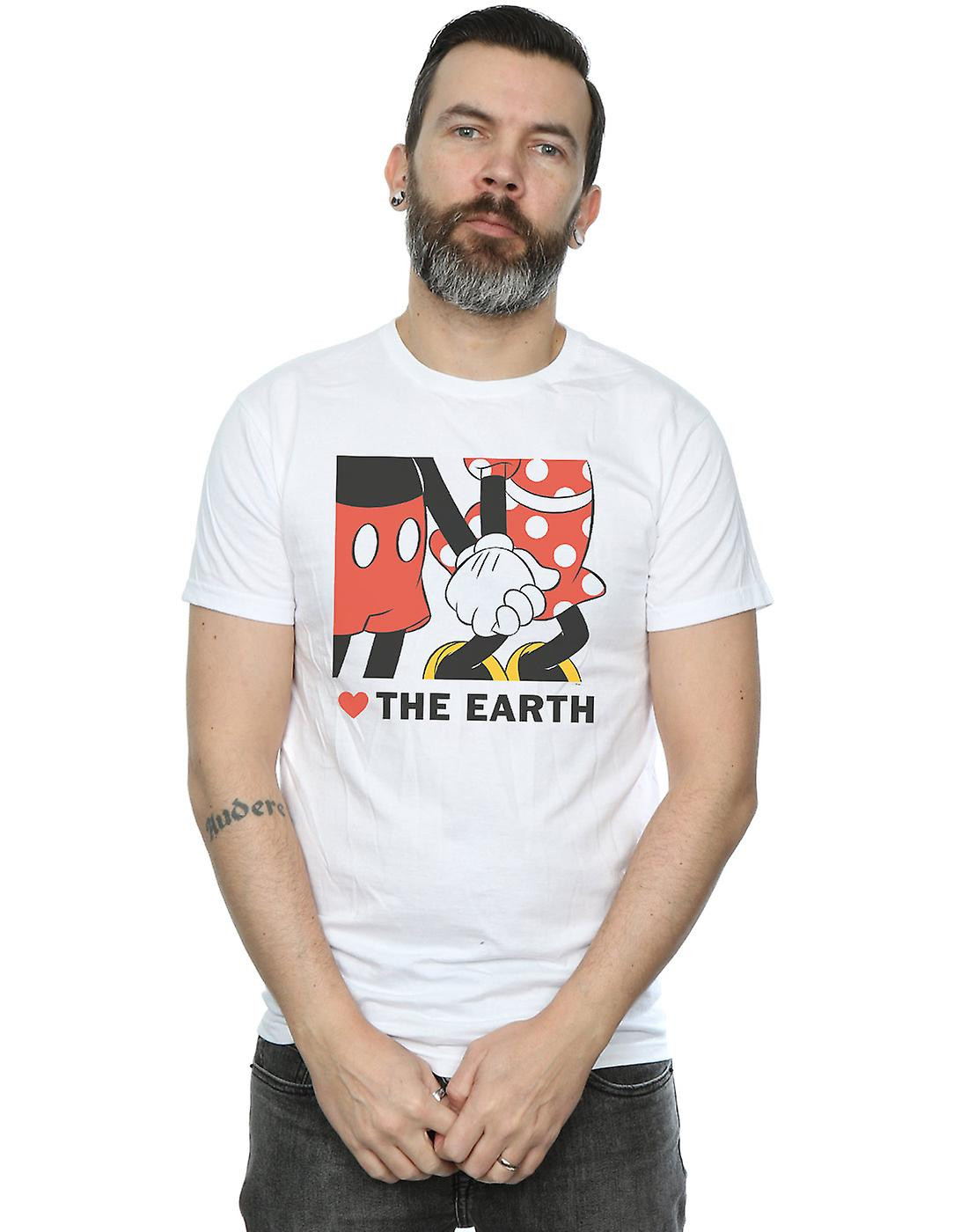Disney Men's Mickey Mouse Heart The Earth T-Shirt