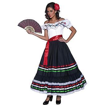 Аутентичные Западной сексуальная сеньорита платье костюм, Великобритания 12-14