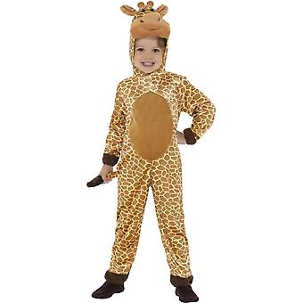 Giraffe Costume, Brown, with Hooded Jumpsuit & Tail