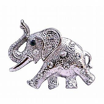 Silver Casting Elephant Trunk Brooch Pin Vintage Jewelry