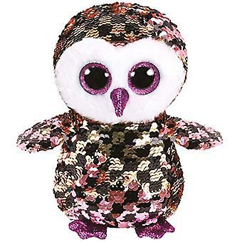TY Flippable pailletten controles Owl Pink/Black Beanie