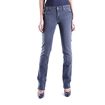7 For All Mankind Ezbc110007 Dames's Grey Cotton Jeans