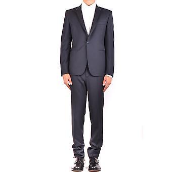 Brian Dales Ezbc126021 Men's Black Wool Suit