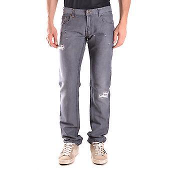 Costume National Ezbc066047 Men's Grey Cotton Jeans