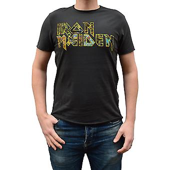 Amplified Iron Maiden Eddies Logo Crew Neck T-Shirt