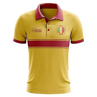 Mali-Konzept-Streifen-Polo-Shirt (gelb)