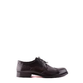Trussardi Ezbc149004 Men's Black Leather Lace-up Shoes