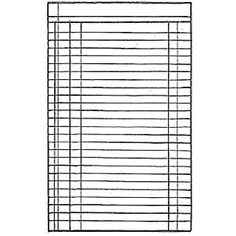 Stamperia Natural Rubber Stamp Lined Page (WTKCC08)
