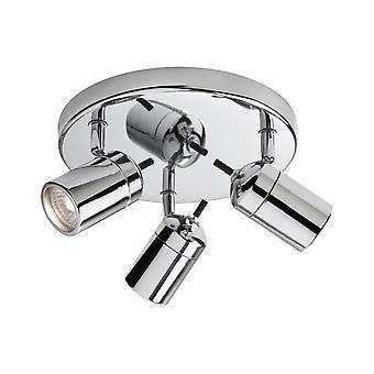 Firstlight-3 lys flush badeværelse loftslampe krom IP44-9070CH