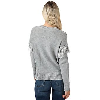 Womens Vero Moda Fringi pull en Light Grey Melange