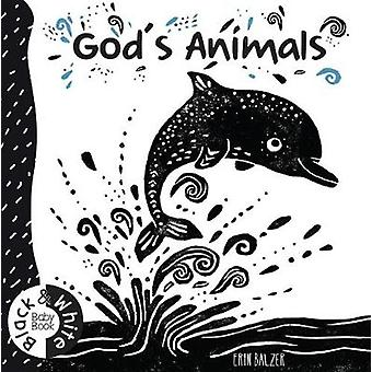 God's Animals - Black and White Baby Book by Erin Balzer - 97818602425
