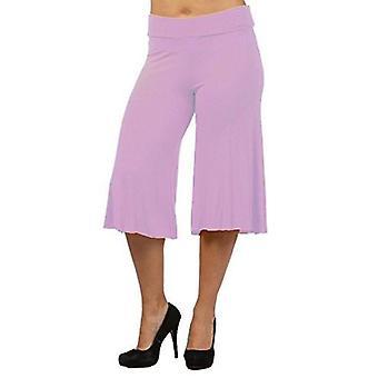 Dbg women's women's palazzo wide leg rayon gaucho capri pants