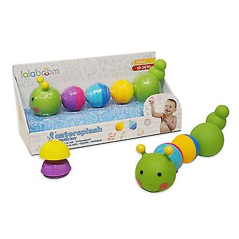 Lalaboom 8pcs Beads Caterpillar Bath Toy
