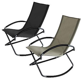 Chaise à bascule pliable de tissu textile de Trueshopping Comshopping