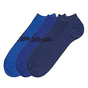Emporio Armani 3 Pack Big Eagle logo trener sokker, Navy/lilla/blå, liten (UK 5-7)