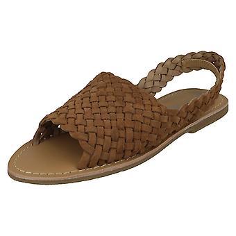 Damer läder kollektion slingback sandaler F00214