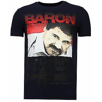 Cocaïne Cowboy-Rhinestone T-shirt-Navy