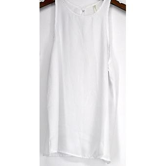 Lyss Loo Top At First Crush Crew Neck Tank White Womens