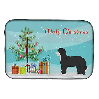 Carolines Treasures  CK3868DDM Black Sheepadoodle Christmas Tree Dish Drying Mat
